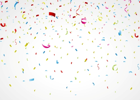 Vector Illustration of colorful confetti on white background