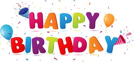 Illustration pour happy birthday background - image libre de droit
