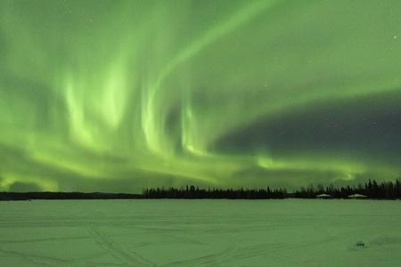 Photo for Aurora borealis at Chena Lakes in Alaska - Royalty Free Image