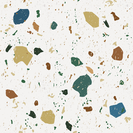 Illustration for Terrazzo seamless patterns. Classic Italian marble.Vector abstract background. - Royalty Free Image