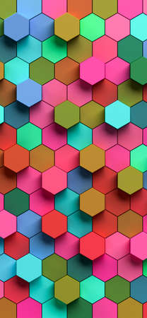 Photo for Hexapolygon 3D pattern for smartphones by 3D rendering - Royalty Free Image