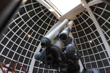 The telescope in a astronomical observatory, USA