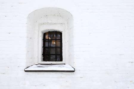 Window building of Sviyazhsky Assumption Monastery in winter