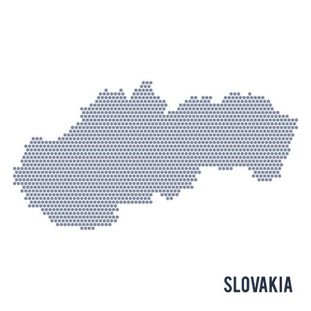 Vector hexagon map of Slovakia   Business space in the country