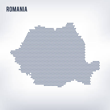Vector hexagon map of Romania   Business space in the