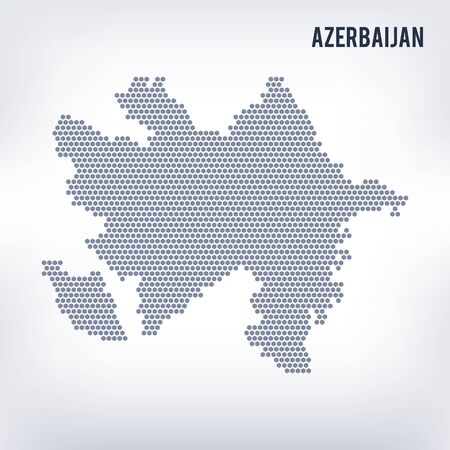 Vector hexagon map of Azerbaijan   Business space in the country