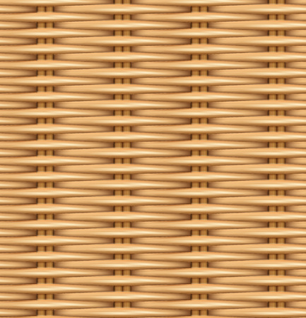 Photo for Seamless pattern realistic texture of woven rattan. The texture of the wooden basket. Vector illustration. - Royalty Free Image