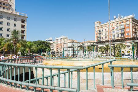 MALAGA, SPAIN - September 17, 2017 - Plaza de la Marina