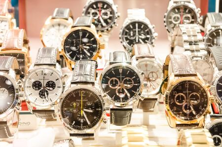 Very Expensive Luxurious Watches In A Store Stand