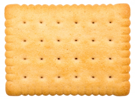 Milk Biscuit Isolated On White