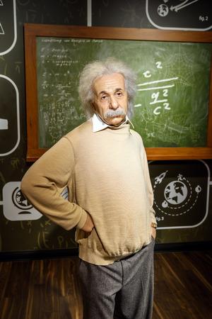 VIENNA, AUSTRIA - AUGUST 08, 2015: Albert Einstein Figurine At Madame Tussauds Wax Museum.