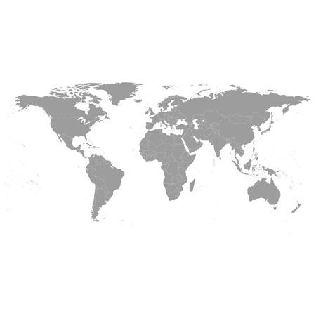 Gray Political World Map Vector, light design vector illustration