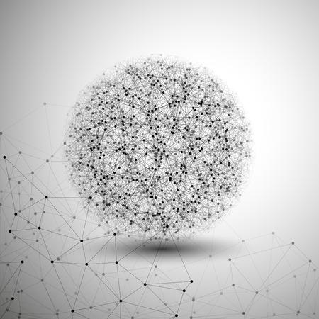 Illustration pour Molecule structure, gray background for communication, vector illustration. - image libre de droit