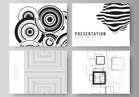Illustration for The minimalistic abstract vector illustration layout of the presentation slides design business templates. Trendy geometric abstract background in minimalistic flat style with dynamic composition. - Royalty Free Image