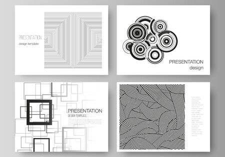 Illustration for The minimalistic abstract vector illustration layout of the presentation slides design business templates. Trendy geometric abstract background in minimalistic flat style with dynamic composition - Royalty Free Image