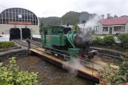 Queenstown, Tasmania - March 26, 2019: Tasmania West Coast Wilderness Railway.The original railway began operations in 1897 as the only link between Queenstown and the port of Strahan in Tasmania, Australia.