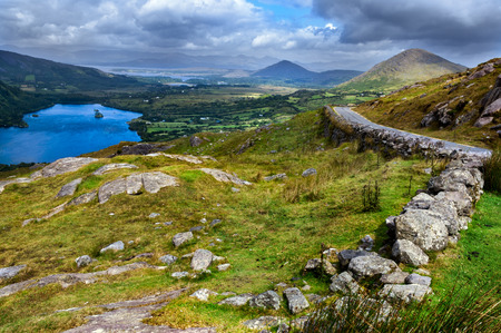 View over valley in Killarney National Park, Republic of Ireland