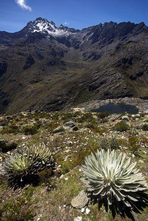 Peak Bolivar in the Andes near Merida, Venezuela