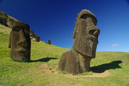 Easter Island Statues called Moais
