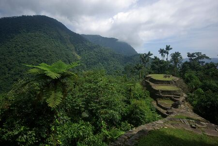 Lost indian city of Ciudad Perdida in the jungle in Colombia