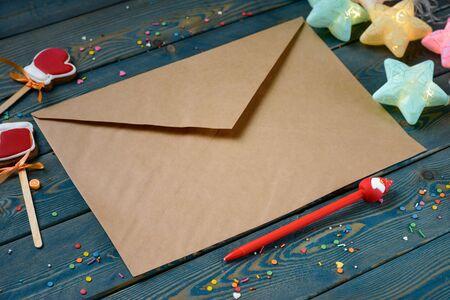 Photo pour Letter to Santa Claus - image libre de droit