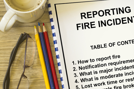 Fire incident reporting concept- use in fire prevention and reporting.