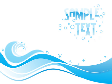 Abstract blue toned design with place of sample text