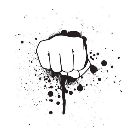 vector grunge hand isolated on a white background