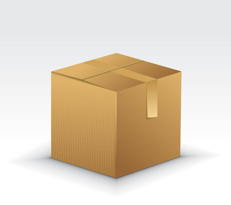 Cardboard Boxes Icons with cardboard box vector illustration isolated on white background