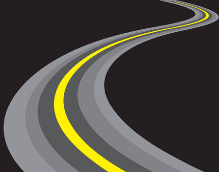 vector road illustration. isolated on black background