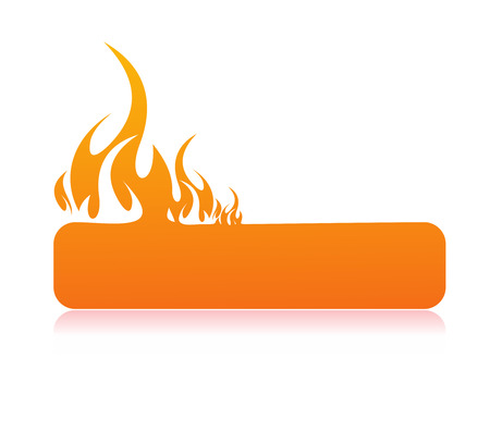 Illustration for Burning flame banner with space of your text   - Royalty Free Image