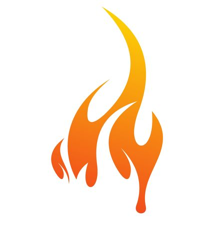 Ilustración de abstract fire icon with white background, vector illustration  - Imagen libre de derechos