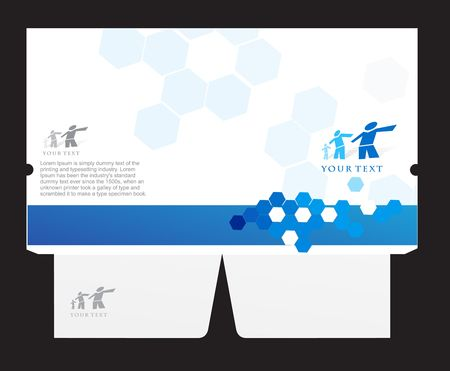 corporate folder die cut design, best used for your project.
