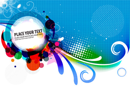 abstract colorful banner design.   illustration.