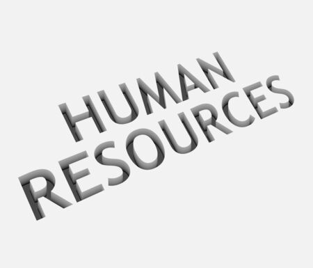 3d vector human resources text design with isolated on white.