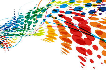 Vektor für abstract colorful wave line with space of your text, vector illustration  - Lizenzfreies Bild