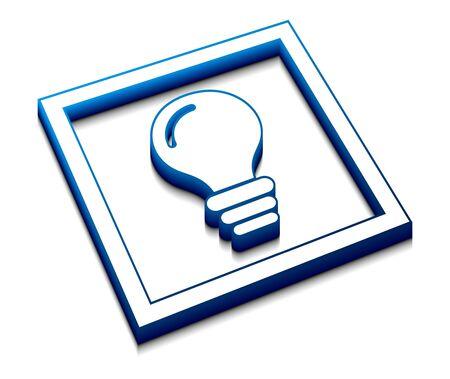 3d vector glossy idea web icon design element.