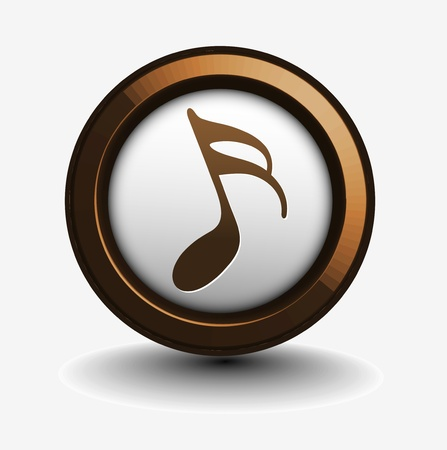Music notes icon design use, vector illustration