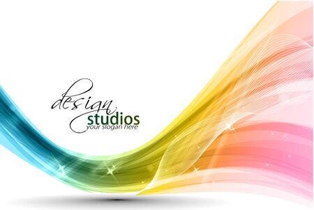 Illustration pour Abstract colorful wave background. Vector. illustration - image libre de droit