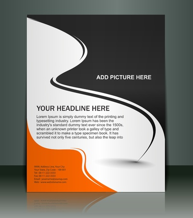 Vector editable Presentation of Flyer/Poster design content background.