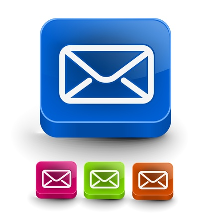 Set of vector email icon web design element.