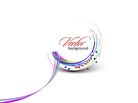 Abstract colorful circle banner for your text. Vector design.
