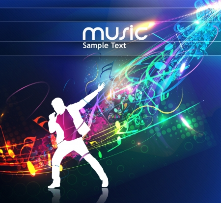 abstract music design for music background use