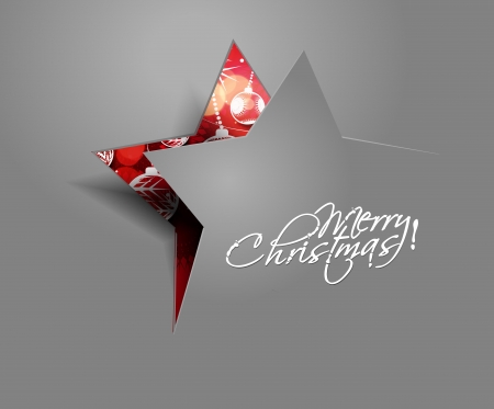 Illustration for Modern christmas star background, illustration  - Royalty Free Image