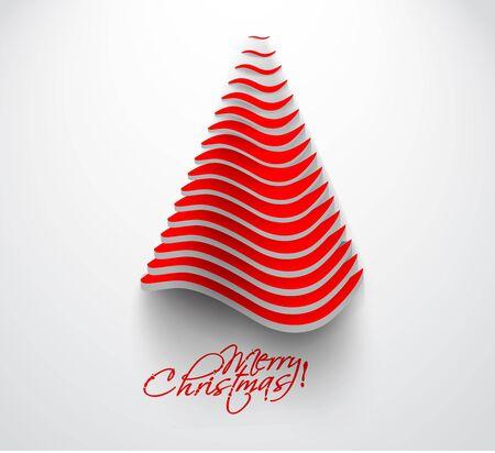 Illustration pour merry christmas tree design, illustration.  - image libre de droit