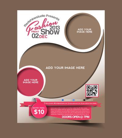 Foto de Fashion Flyer & Poster Template Design - Imagen libre de derechos