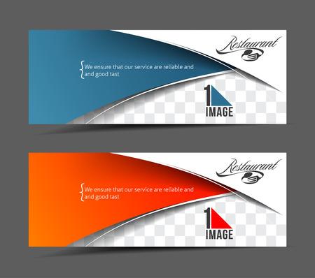 Modern Restaurant Business Design Banner Template