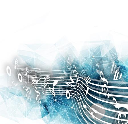 Illustration pour Abstract musical notes background for design use. - image libre de droit