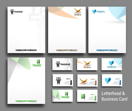Illustration for Set of Corporate Identity Template. Vector illustration - Royalty Free Image