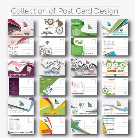 Illustration pour Mega Collection of Postcard Design for Opening invitation Bundle. - image libre de droit